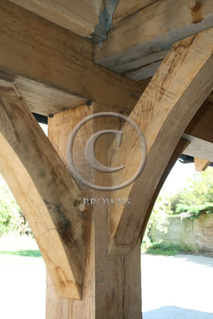 Hand crafted oak beams