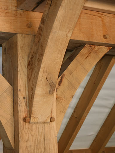 As used in timber framed buildings...